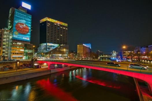 Nachtspaziergang Donaukanal