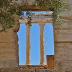 Durchsicht... auf der Akropolis in Athen