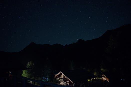 Nachts auf der Alm 1960 m