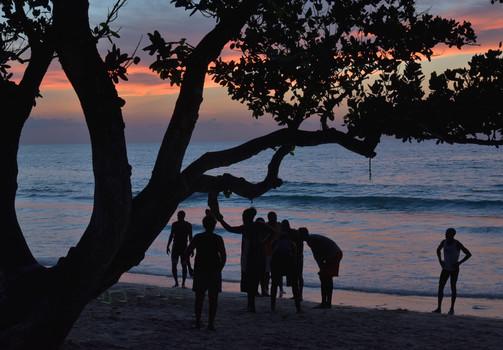 Abendstimmung auf Anse Forbans, Mahe, Seychelles