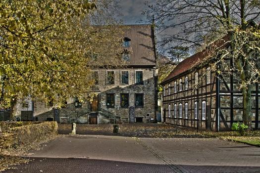 Stadthagen/Nds - Landsbergscher Hof mit Stadtarchiv und alter Bücherei