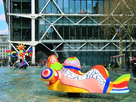 Strawinski-Brunnen - Centre Georges Pompidou / Paris